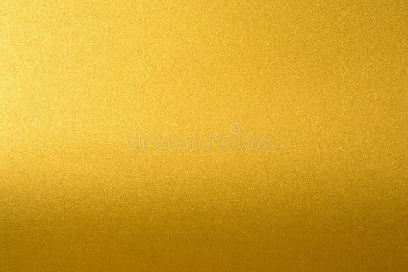 Szczegóły złoty tekstury tło z gradientem i cieniem Złocista kolor farby ściana Luksusowy złoty tło i zdjęcie royalty free