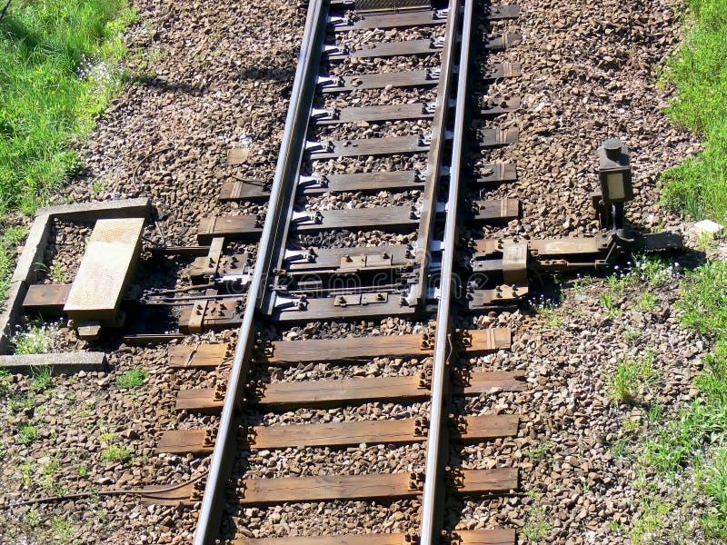 szczegóły zmian kolei zdjęcie stock
