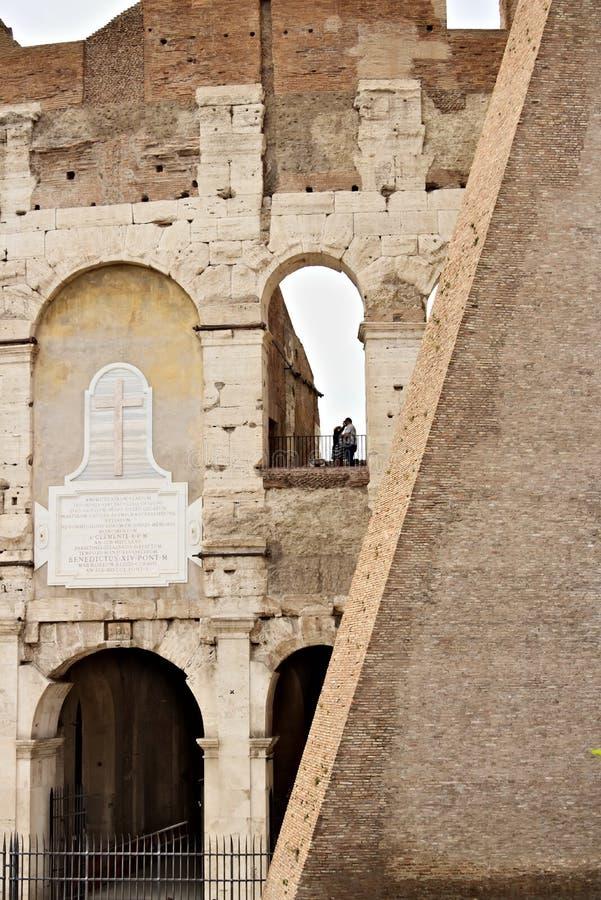Szczeg?? Colosseum tak?e dzwoni? Flavian amfiteatr zdjęcie royalty free