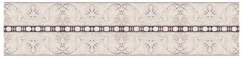 Szczeg?? formierstwo kamienia starzy W?oscy okapy z kwiatami i owocowymi ro?linami - bezszwowa tekstura fotografia royalty free