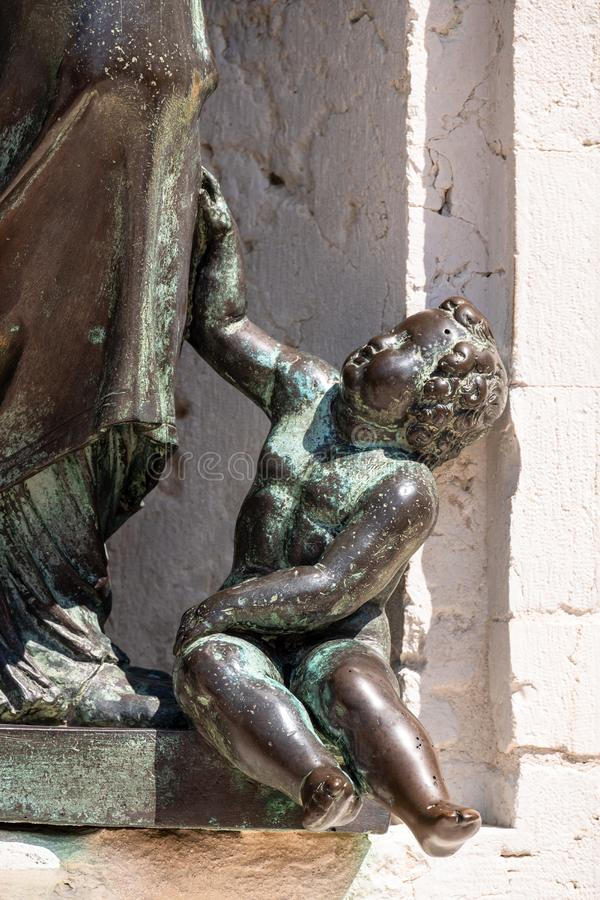 szczeg??y bazyliki della Santa Casa w W?ochy Marche obraz royalty free