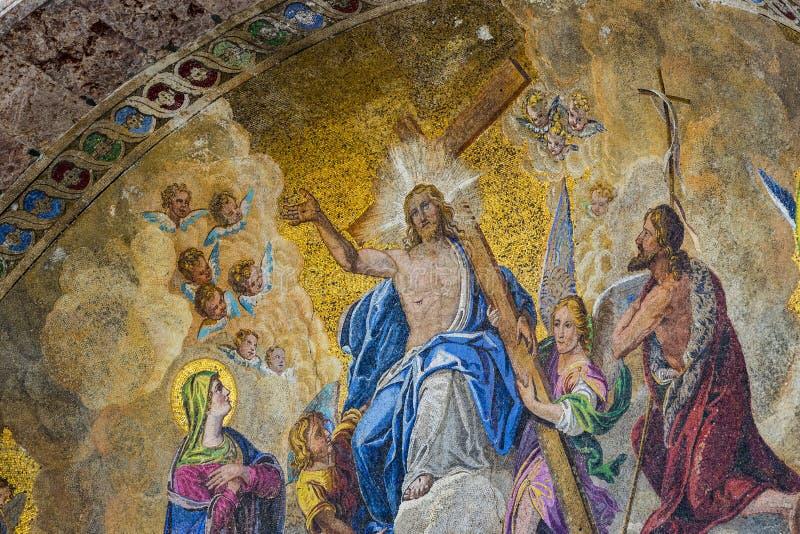Szczeg??y wn?trze St Mark ` s bazylika w Wenecja zdjęcie stock