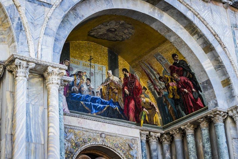 Szczeg??y wn?trze St Mark ` s bazylika w Wenecja zdjęcie royalty free