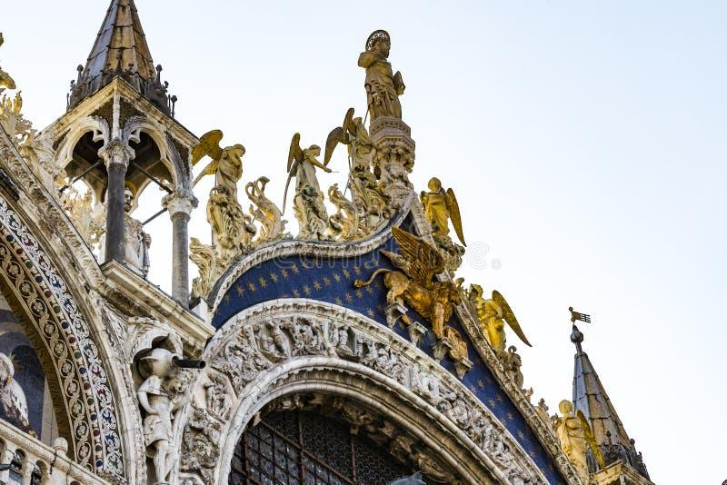Szczeg??y wn?trze St Mark ` s bazylika w Wenecja obraz stock
