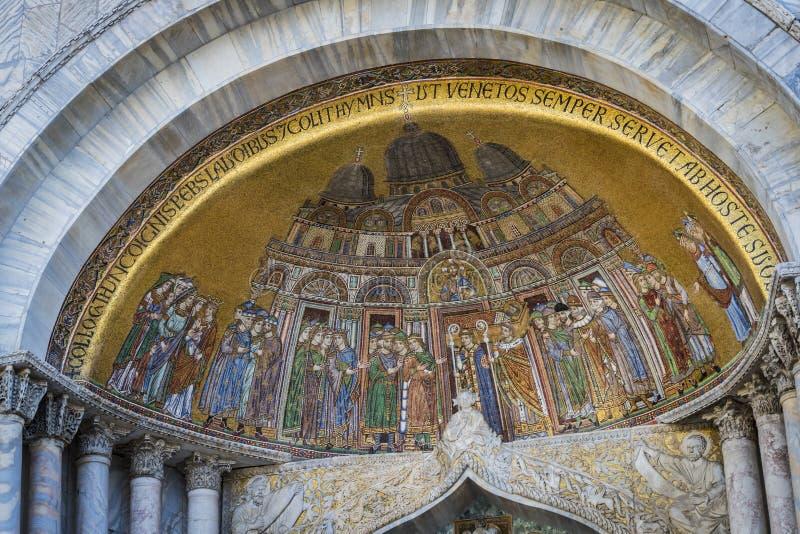 Szczeg??y wn?trze St Mark ` s bazylika w Wenecja zdjęcia royalty free