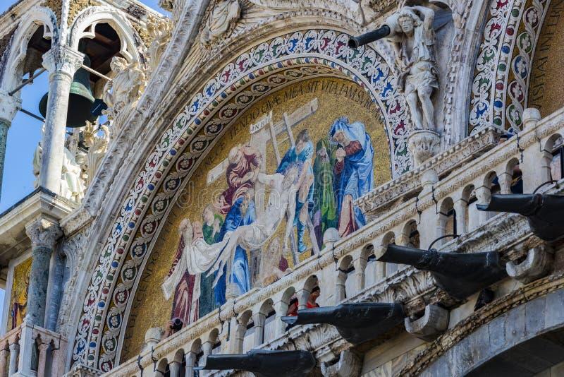 Szczeg??y wn?trze St Mark ` s bazylika w Wenecja obrazy stock