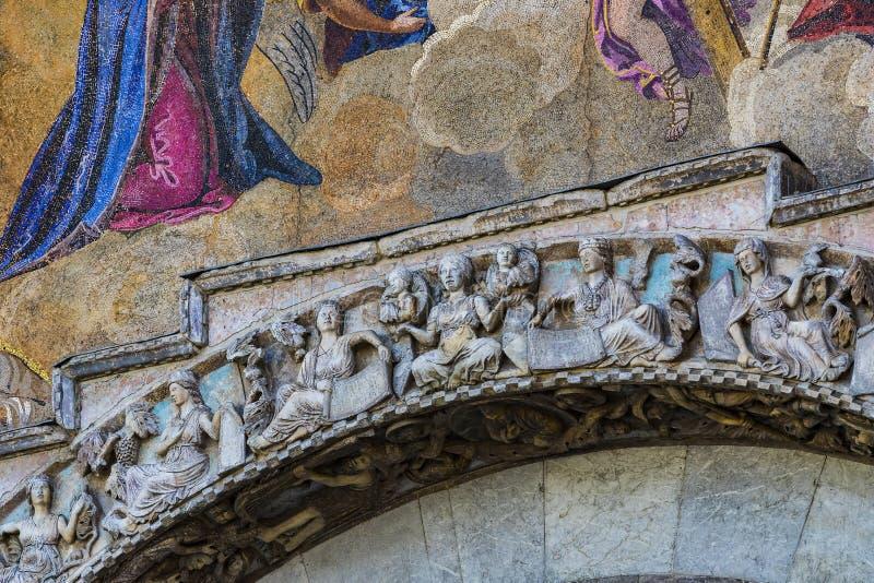 Szczeg??y wn?trze St Mark ` s bazylika w Wenecja obrazy royalty free