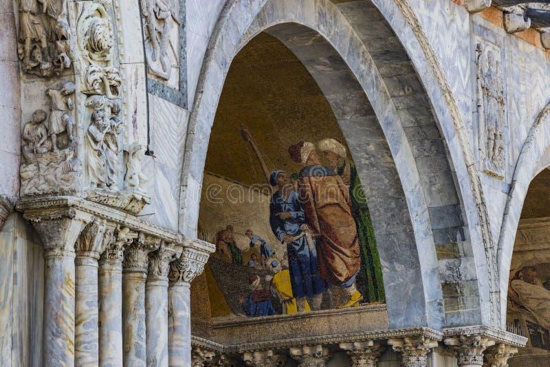 Szczeg??y wn?trze St Mark ` s bazylika w Wenecja zdjęcia stock