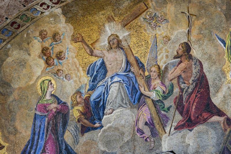 Szczeg??y wn?trze St Mark ` s bazylika w Wenecja fotografia royalty free