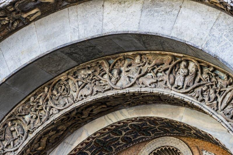 Szczeg??y wn?trze St Mark ` s bazylika w Wenecja fotografia stock