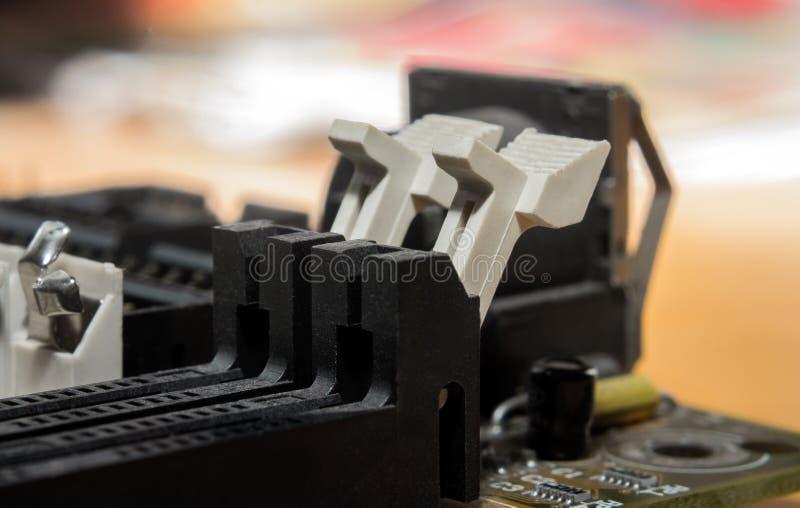 Szczeliny płyty głównej zakończenie zdjęcie stock