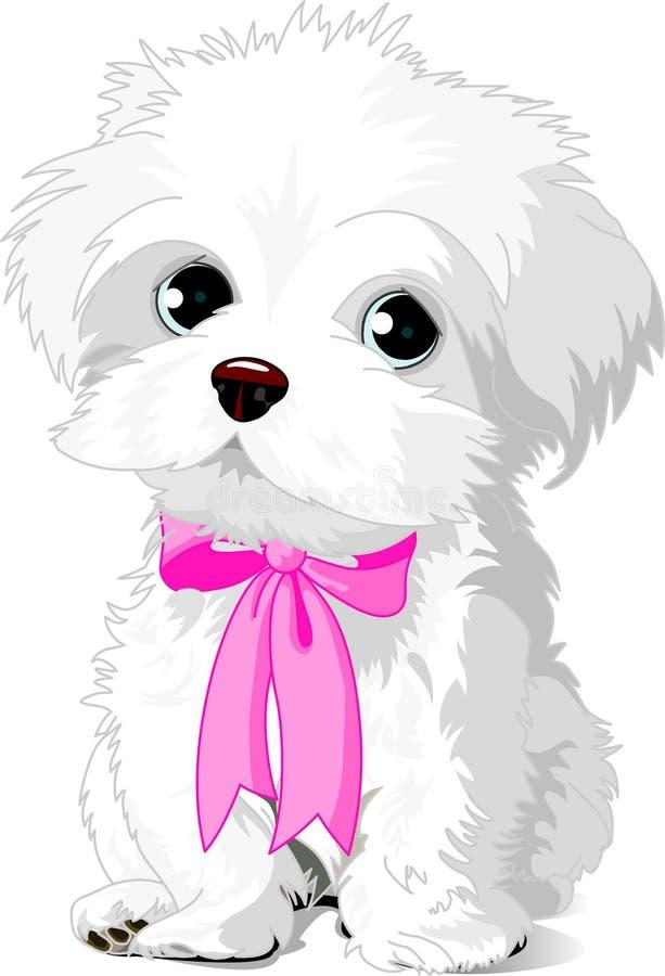 szczeniaka biel royalty ilustracja
