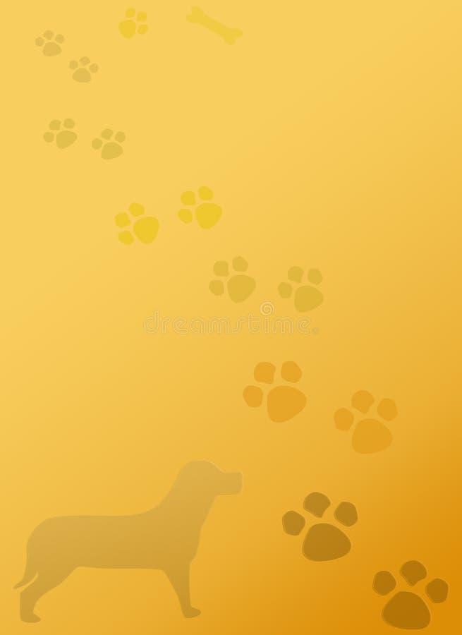 Szczeniaka psa łap materiały Notepad tło royalty ilustracja