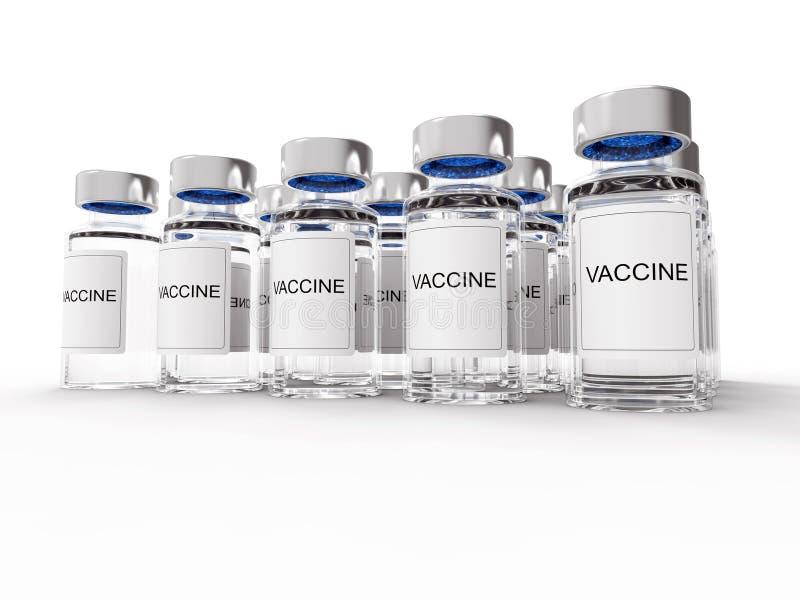 Szczepionek butelki na bielu ilustracja wektor