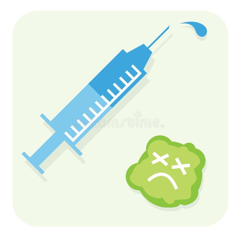 Szczepionka & wirus ilustracja wektor