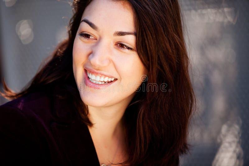 szczera szczęśliwa kobieta zdjęcie royalty free