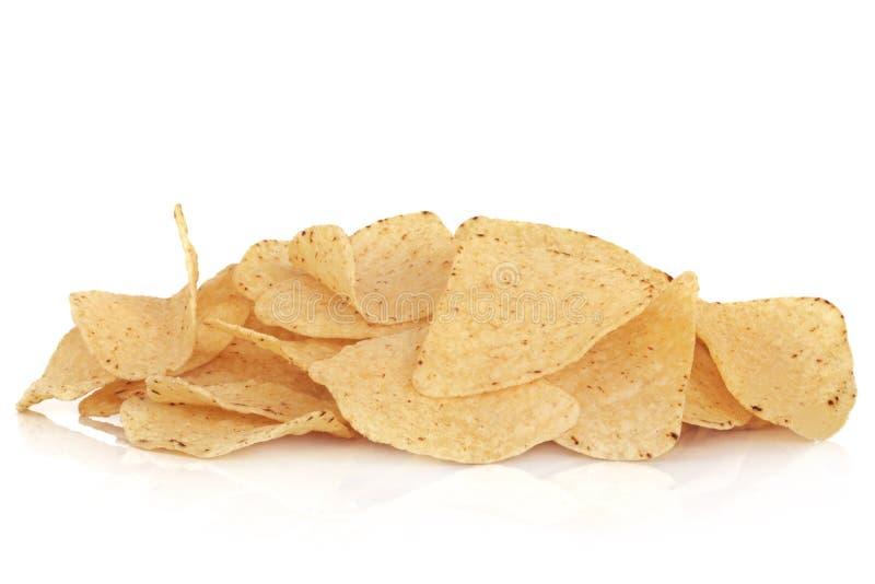 szczerbi się kukurydzanego tortilla zdjęcie stock