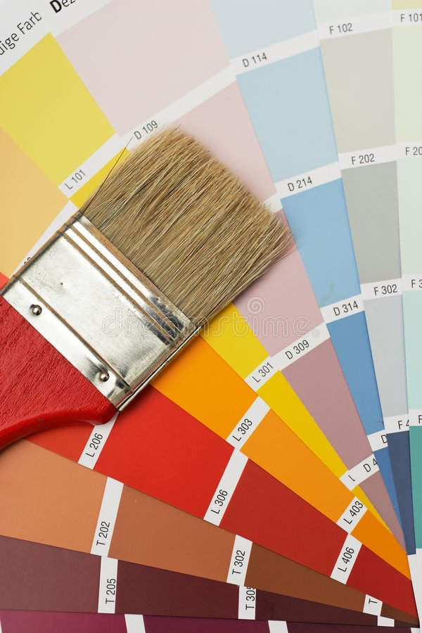 szczotkarscy colorcharts obraz stock
