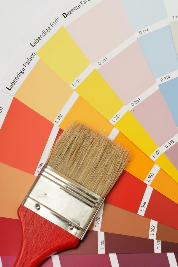 szczotkarscy colorcharts fotografia stock
