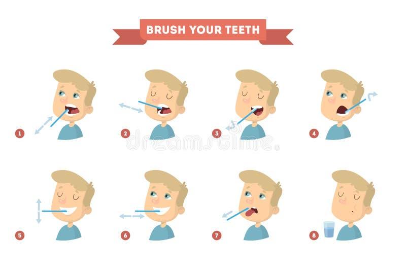 szczotkarscy twoje zęby ilustracja wektor