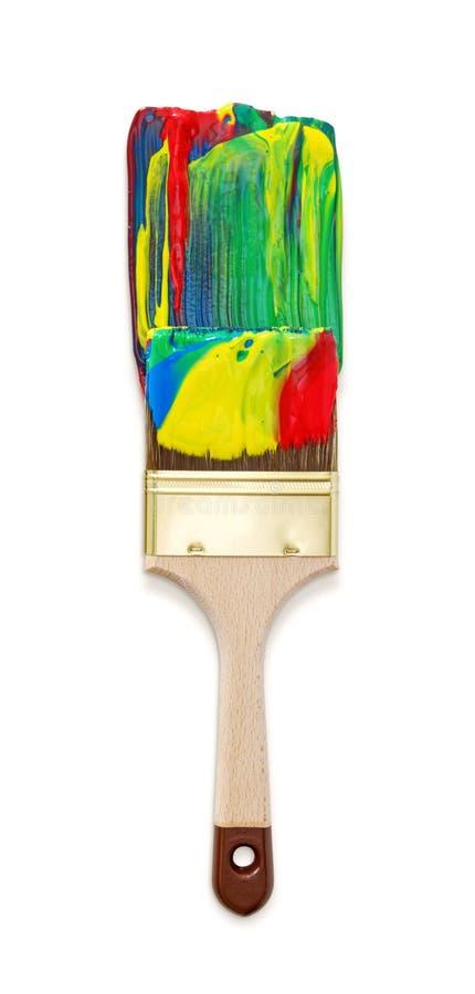 szczotkarska kolorowa farba zdjęcie royalty free