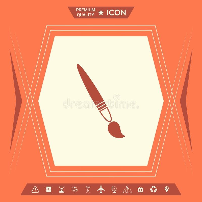 Szczotkarska symbol ikona ilustracja wektor