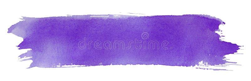 szczotkarski farby uderzenia fiołek royalty ilustracja