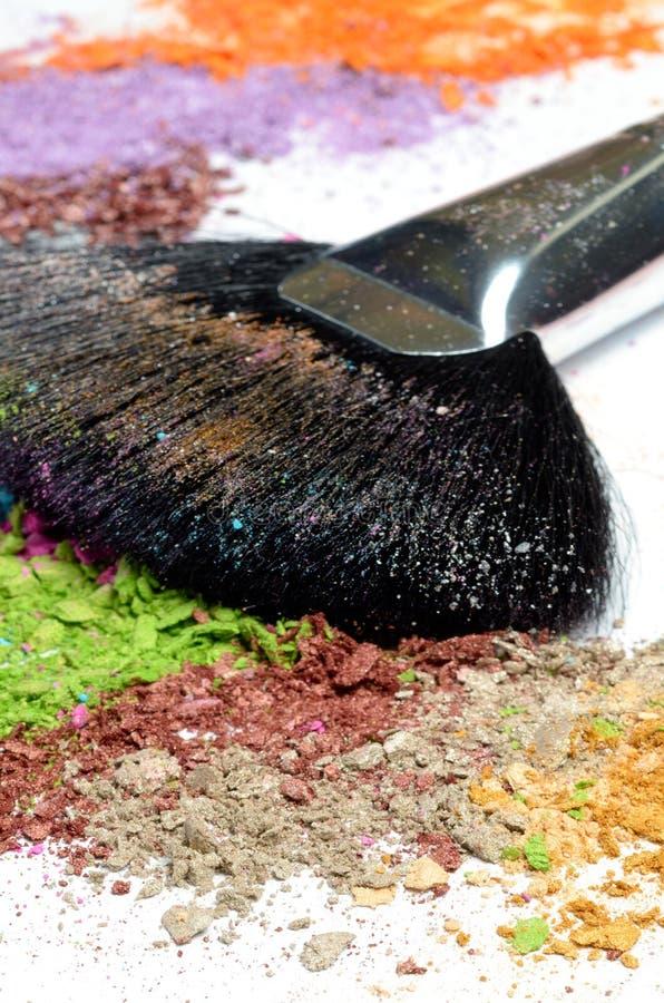 szczotkarski kolorowy oko robi profesjonalisty kolorowy zdjęcia royalty free