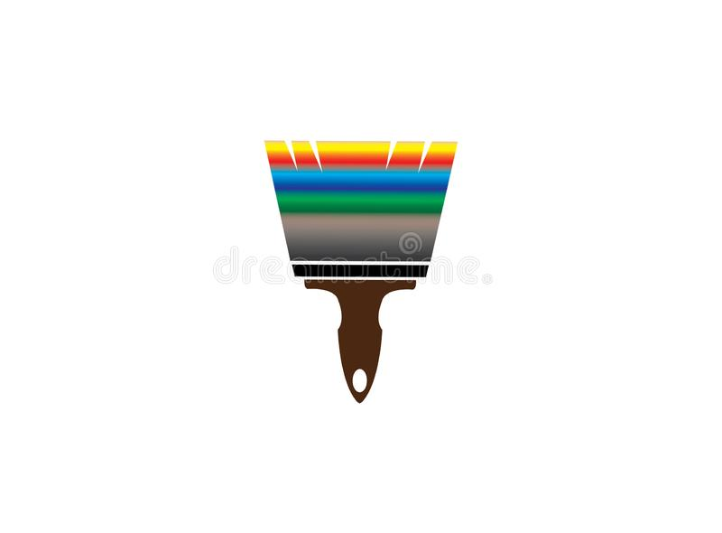 Szczotkarski obraz z multicolors dla logo projekta ilustracji