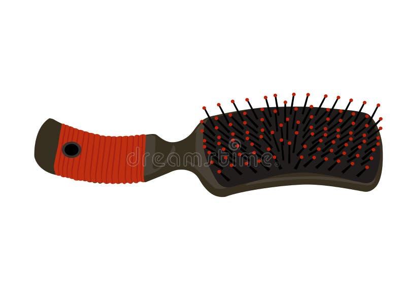 szczotkarski włosy ilustracji