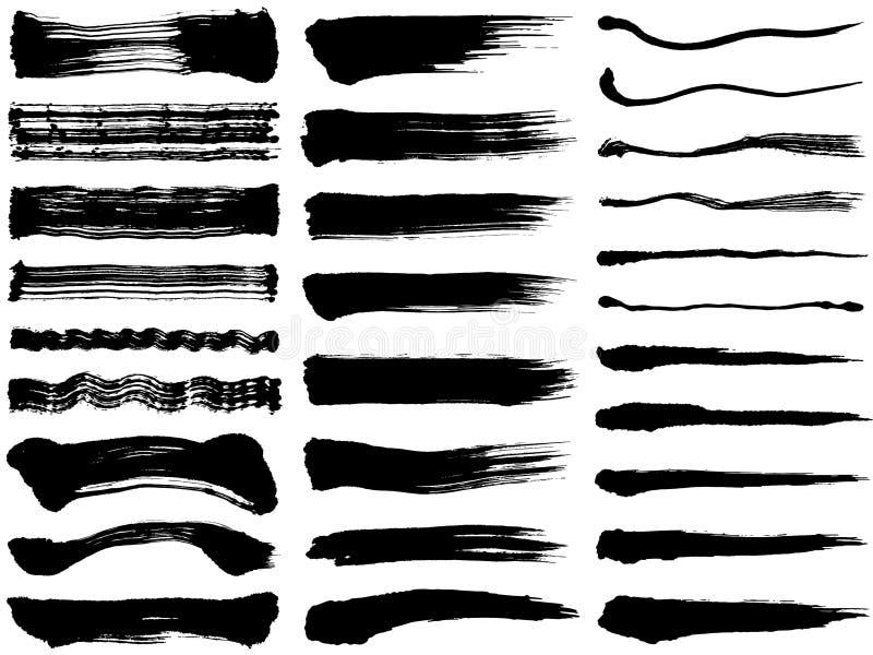 szczotkarskie uderzenie ilustracje Ręka rysujący kształty royalty ilustracja