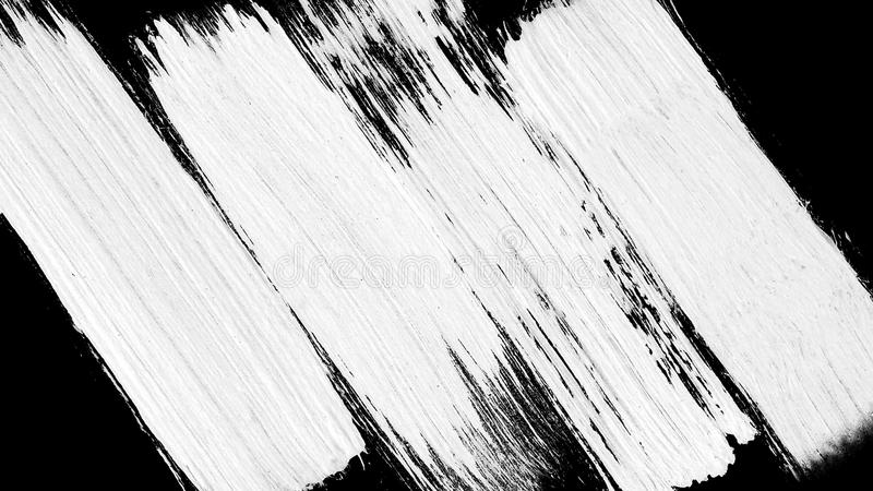 Szczotkarskiego uderzenia przemiany czarny i biały tło Animacja farby pluśnięcie Abstrakcjonistyczny tło dla reklamy i obraz stock