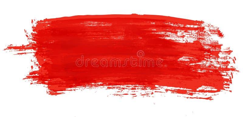 szczotkarskiej farby czerwony uderzenie ilustracja wektor