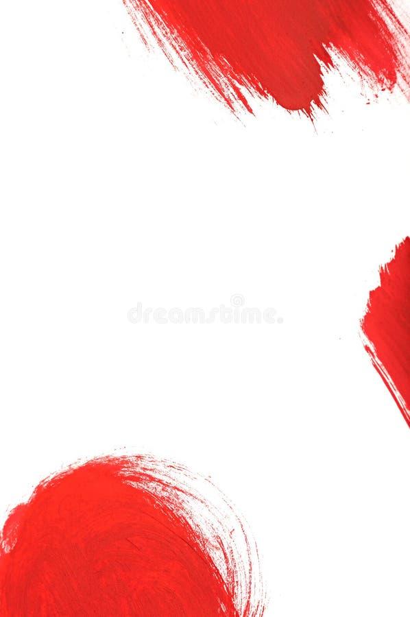 szczotkarskiej farby czerwony uderzenie ilustracji