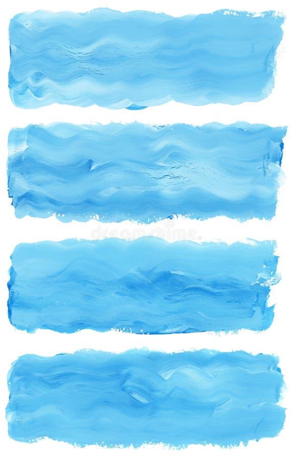 szczotkarskiej farby ustalona uderzeń akwarela zdjęcia stock