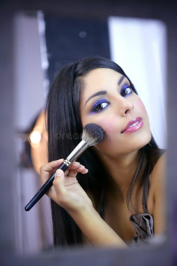 szczotkarskiej mody indyjski makeup model zdjęcie stock