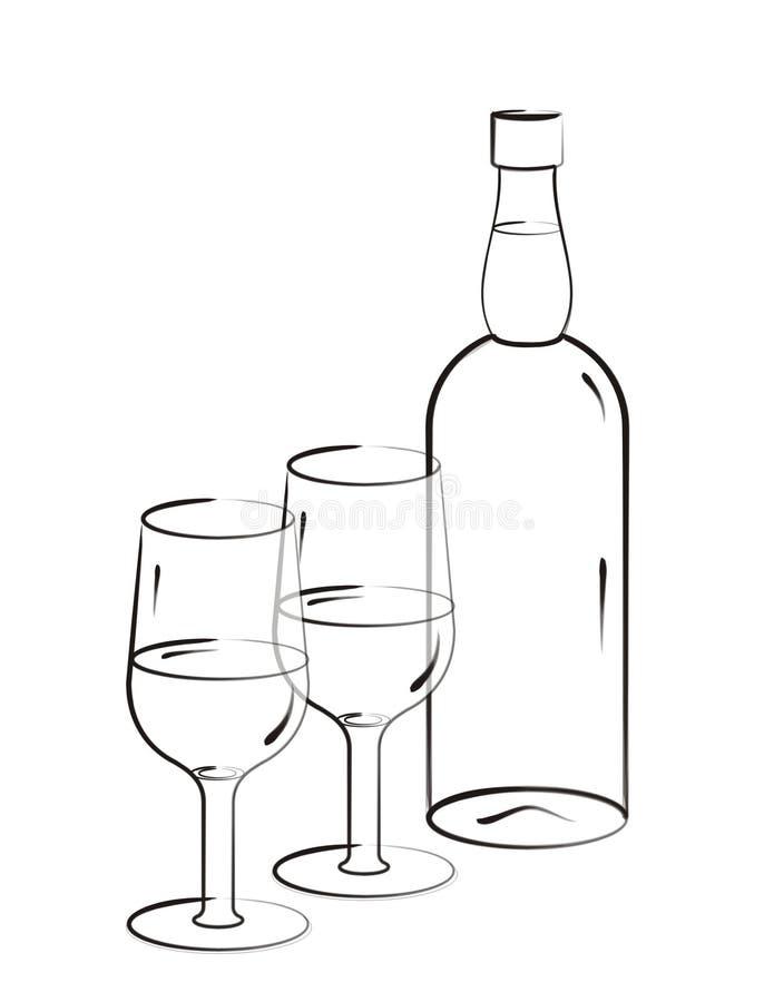 szczotki drinka, sztuki royalty ilustracja