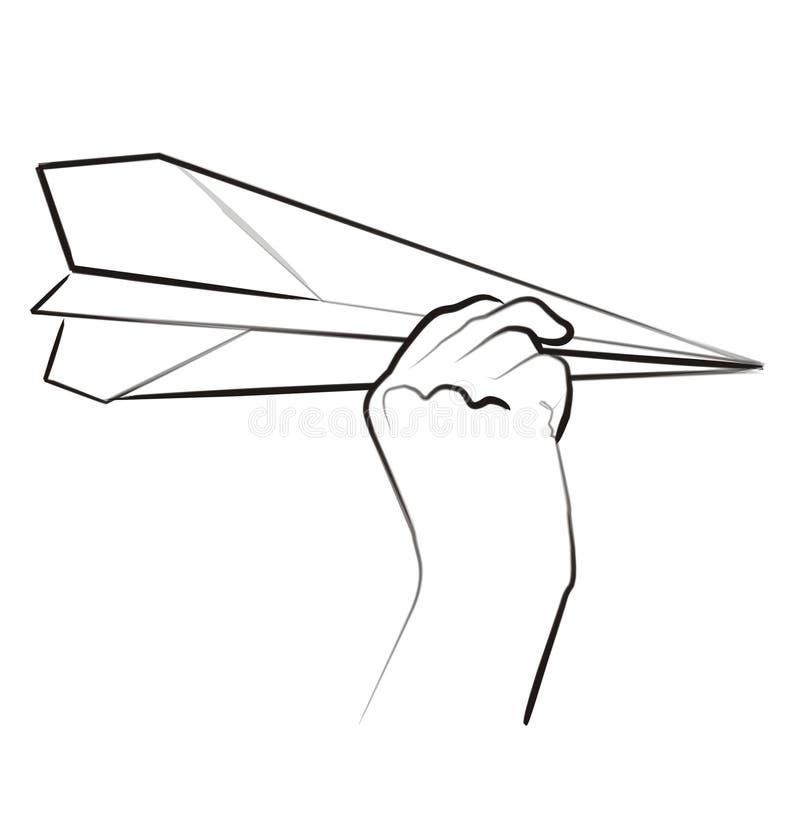 szczotki sztuki papieru uderzenie samolotu ilustracji