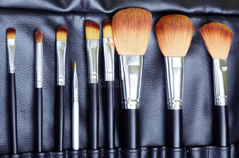 szczotkuje makeup set zdjęcie royalty free