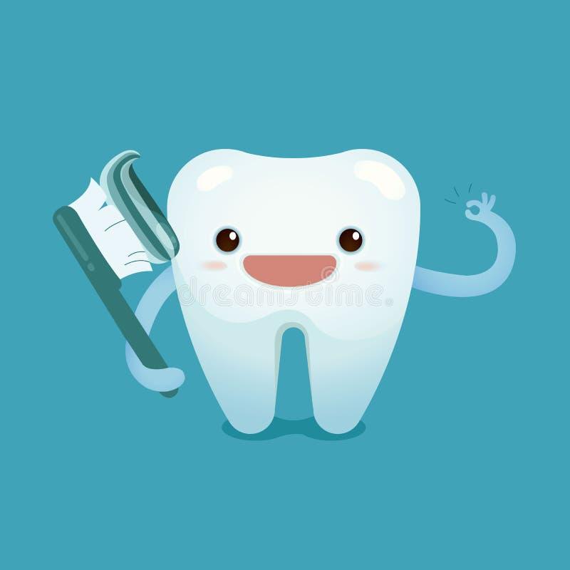 Szczotkuje ząb jest świetnie ilustracji