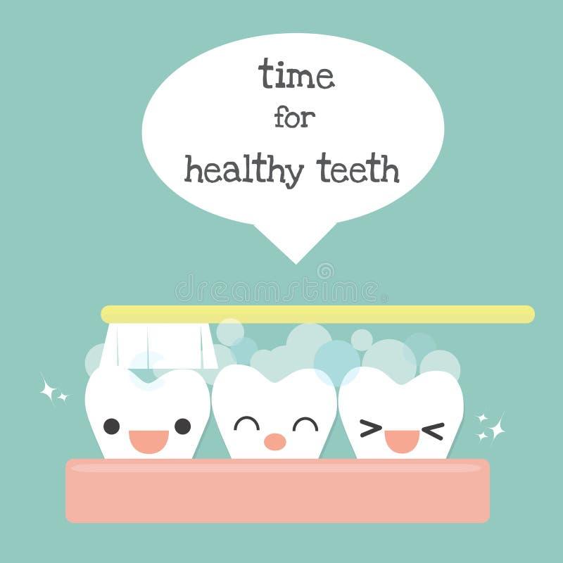 Szczotkuje zęby ilustracji