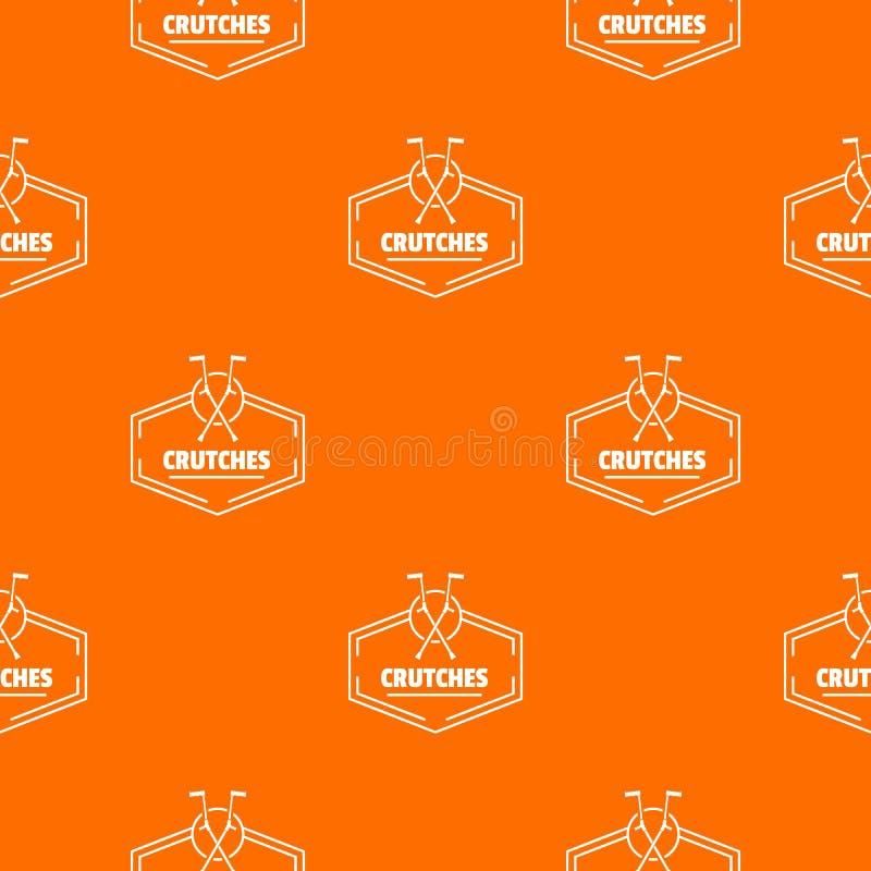 Szczudła deseniują wektorowej pomarańcze ilustracja wektor