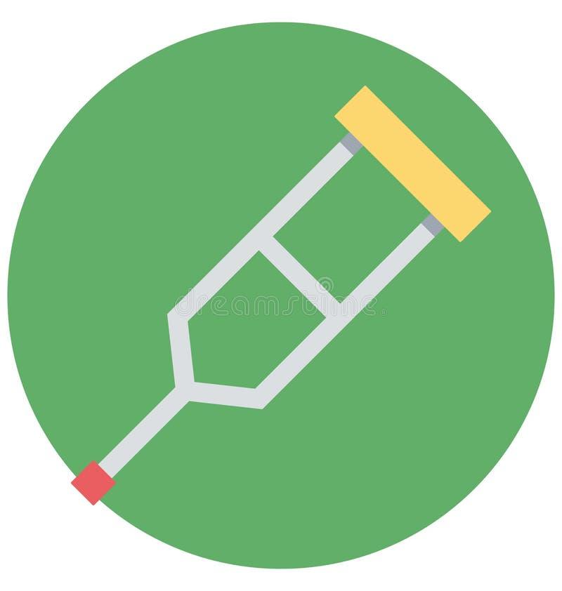 szczudła, ruchliwości pomoc, Odosobniona Wektorowa ikona która może łatwo redagować lub modyfikująca ilustracja wektor