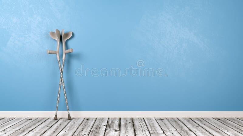 Szczudła w pokoju ilustracji