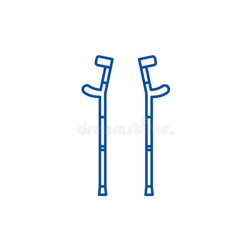 Szczudła wykładają ikony pojęcie Szczudło płaski wektorowy symbol, znak, kontur ilustracja ilustracja wektor