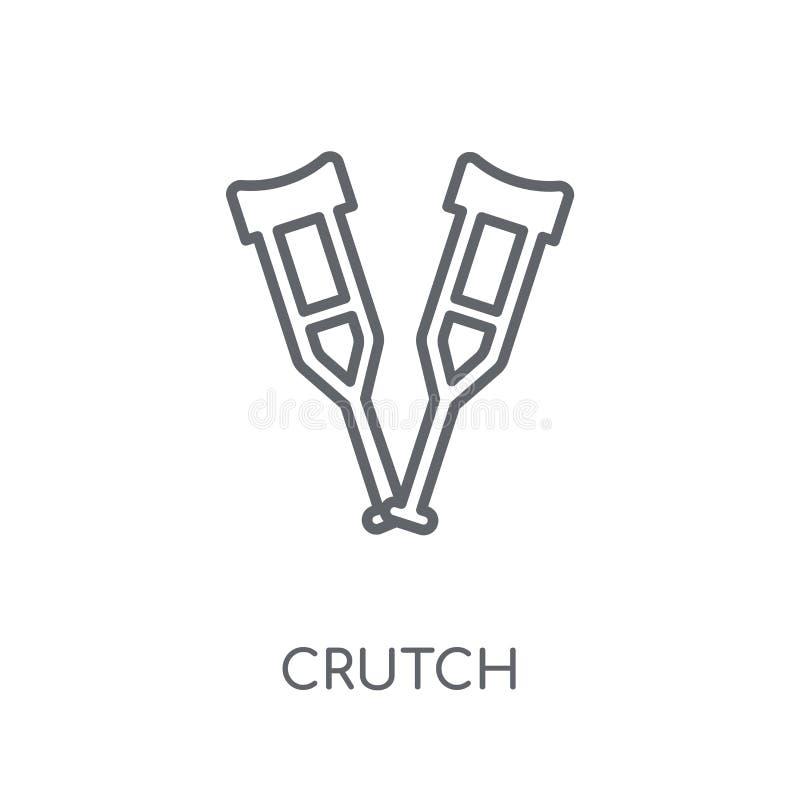 Szczudło liniowa ikona Nowożytny konturu szczudła logo pojęcie na bielu ilustracji