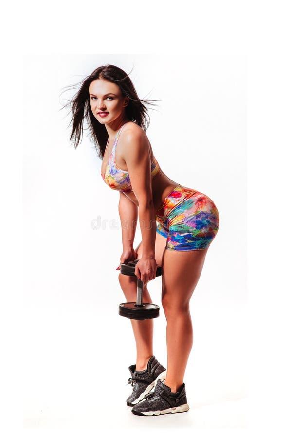 Szczupła sporty sprawności fizycznej kobieta fotografia royalty free