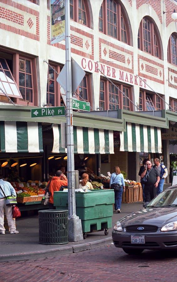szczupaka targowy miejsce Seattle zdjęcie royalty free