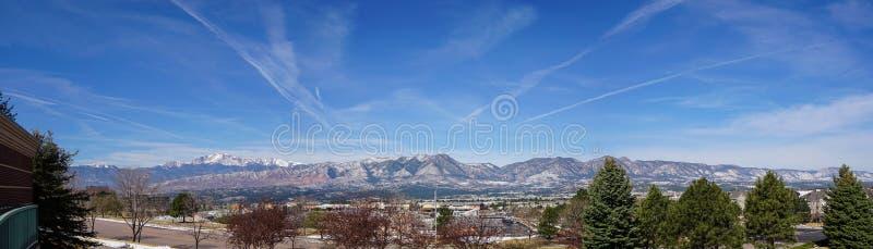 Szczupaki Osiągają szczyt Panoramicznego zdjęcie royalty free