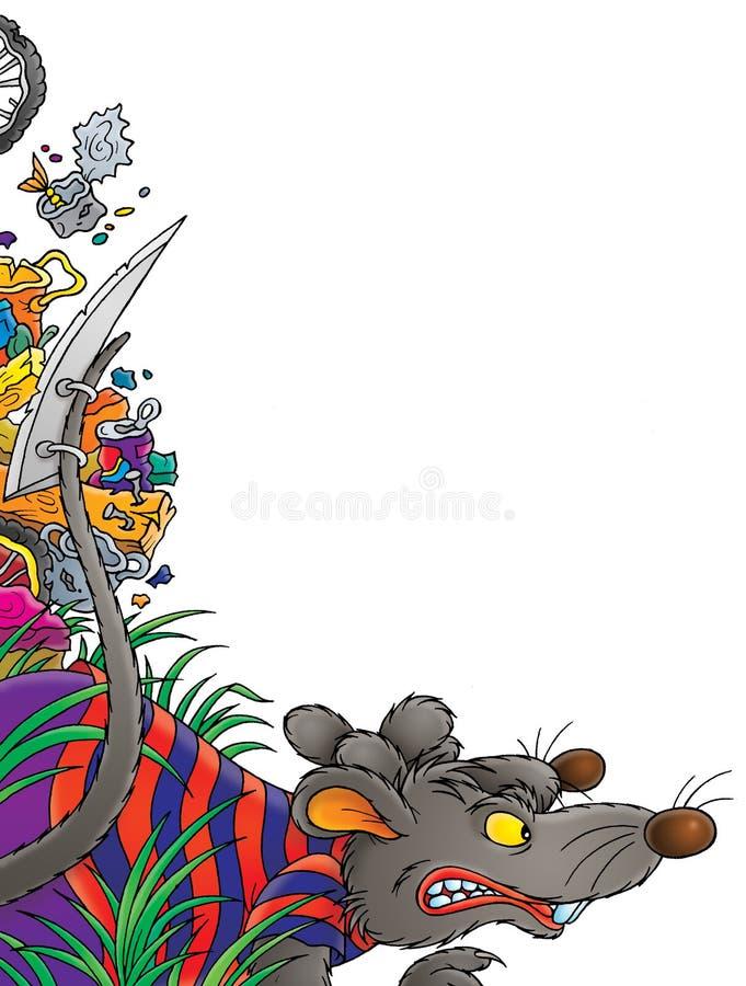 szczur. royalty ilustracja